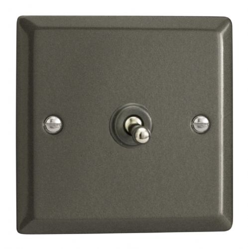 Varilight XPT1 Classic Graphite 21 1 Gang 10A 1 or 2 Way Toggle Light Switch